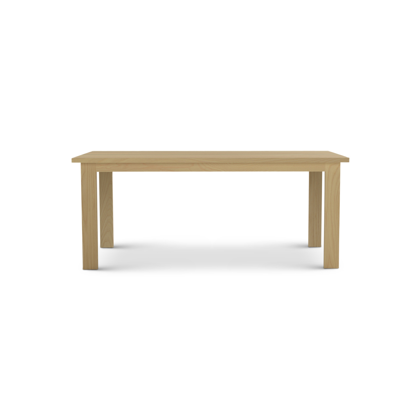6 Foot Modern Solid Ash Table