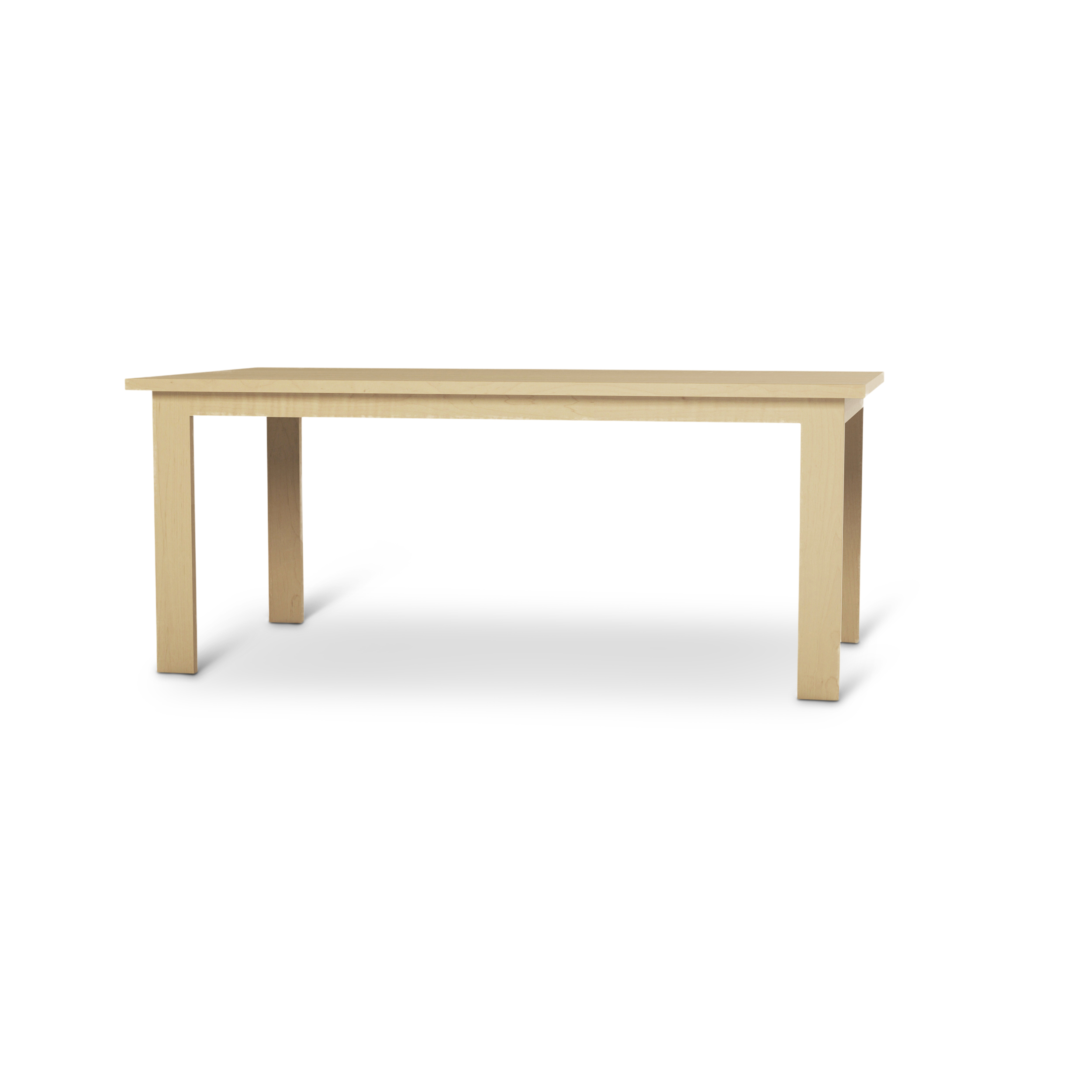 6 Foot Solid Maple Modern Kitchen Table
