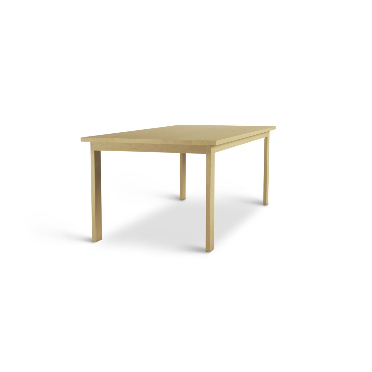 7 foot Simple Solid Maple Table