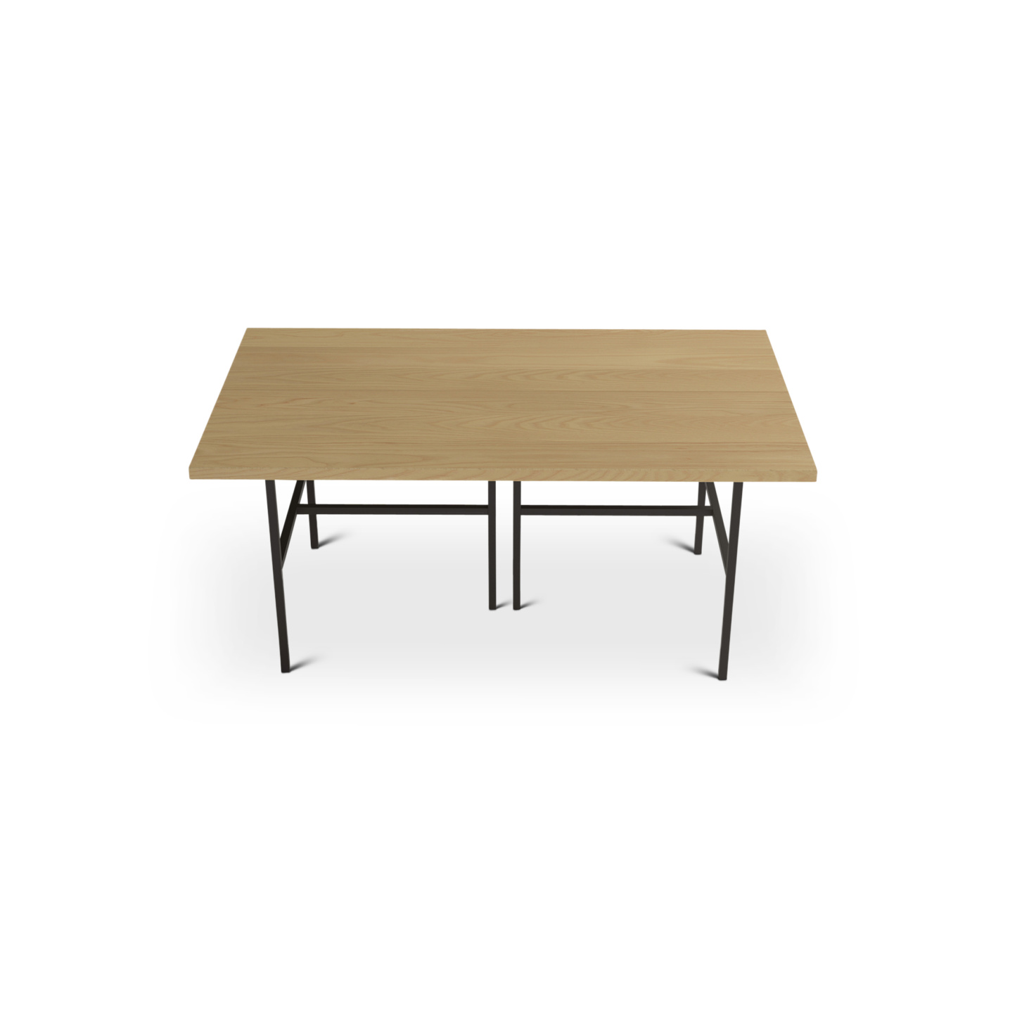 Ash kitchen table with black metal legs