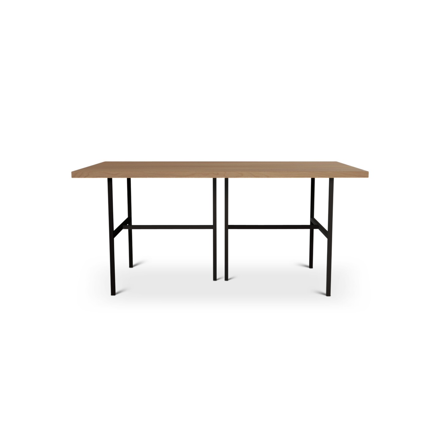 Modern cherry table with black matte legs