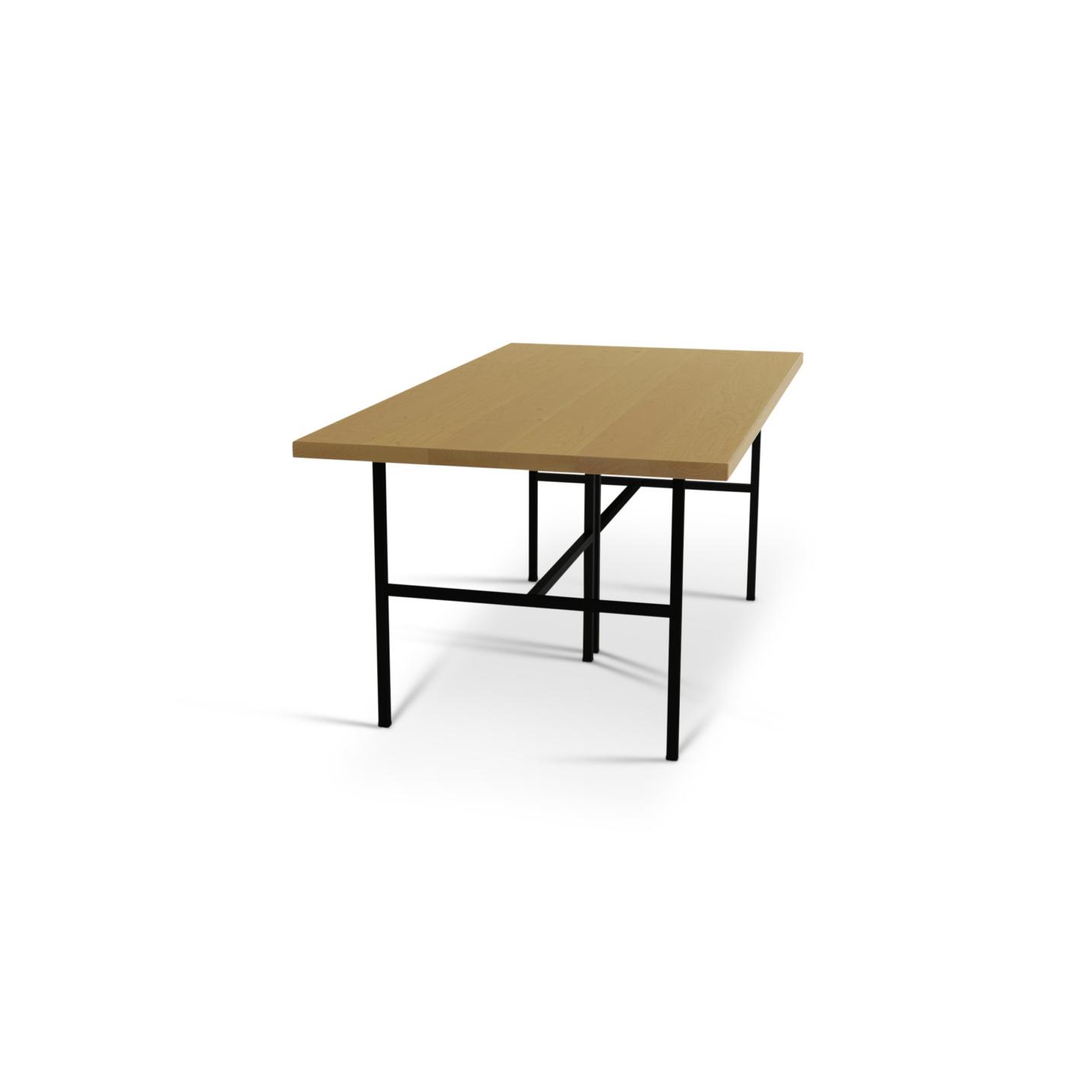 6 foot maple kitchen table on black metal legs