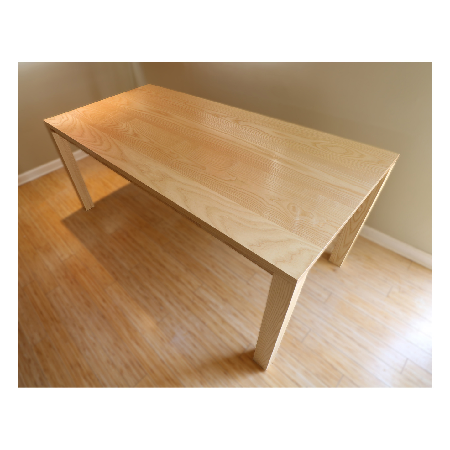 Solid ash dinning room table