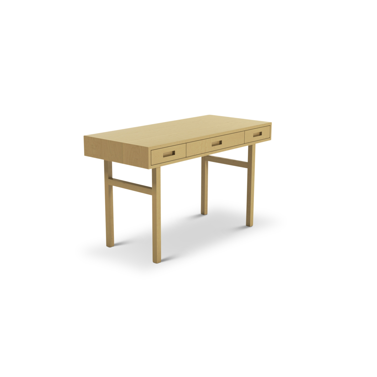 Maple desk with three drawers