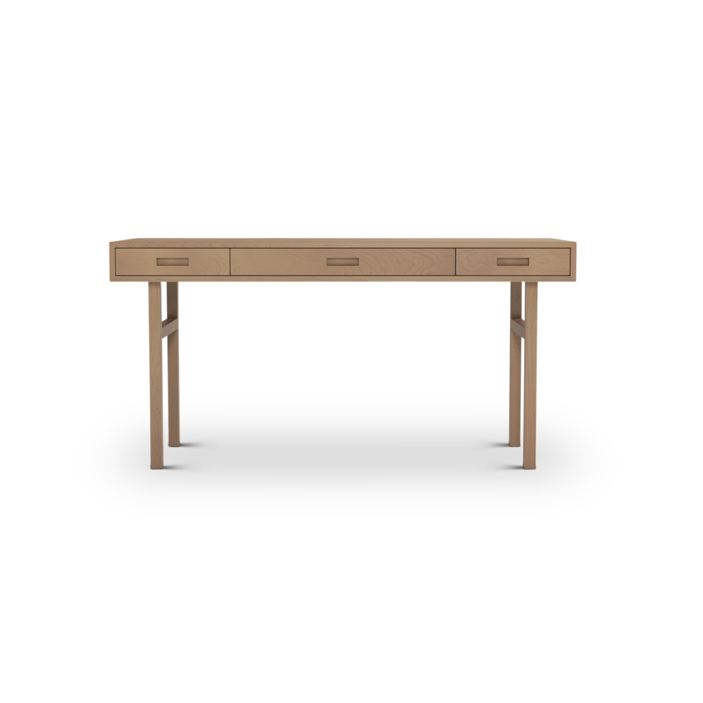 Modern Three drawer cherry desk