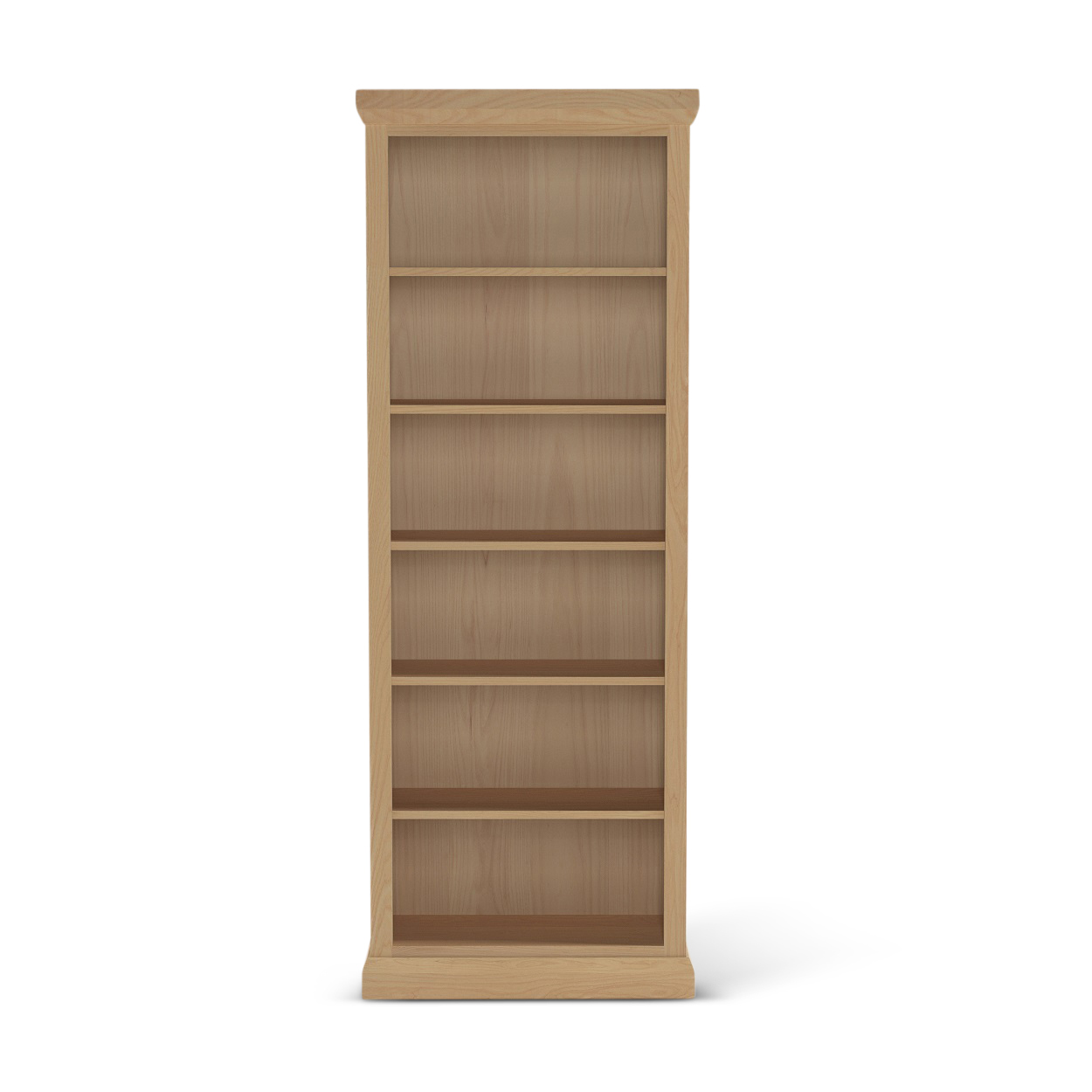 "78"" tall Bureau ash wood contemporary Nordic bookshelf"