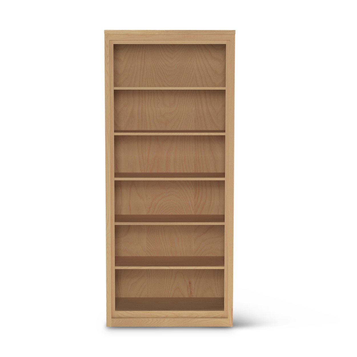 "82"" tall Framed_44 ash wood contemporary Danish bookshelf"